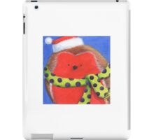 Cute fat Christmas robin iPad Case/Skin