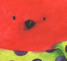 Cute fat Christmas robin Sticker