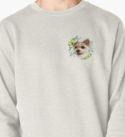 Bean Dog in the Flowers Pullover