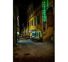 Restaurant in Tuscany Photographic Print