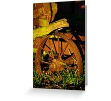 Old farm Equipment Greeting Card