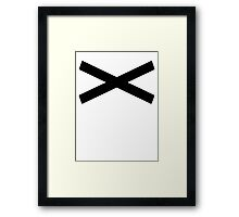 X [Black] Framed Print
