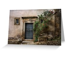 Facade with roses Greeting Card