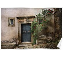 Facade with roses Poster