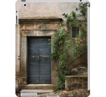 Facade with roses iPad Case/Skin