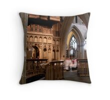 The Choir Wells Cathedral Throw Pillow