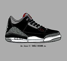 Air Jordan 3 / Smile Design 2014 by fgcsmile