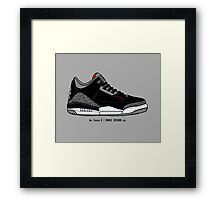 Air Jordan 3 / Smile Design 2014 Framed Print