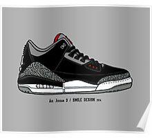 Air Jordan 3 / Smile Design 2014 Poster