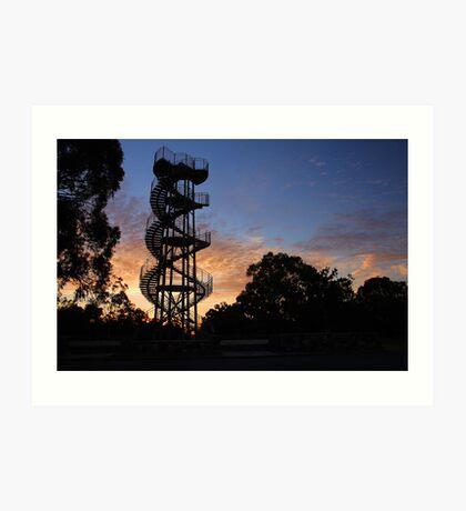 Kings Park DNA Tower At Sunset  Art Print