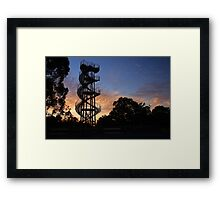 Kings Park DNA Tower At Sunset  Framed Print