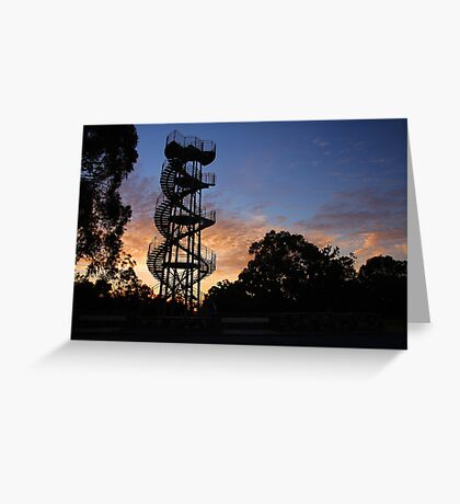 Kings Park DNA Tower At Sunset  Greeting Card
