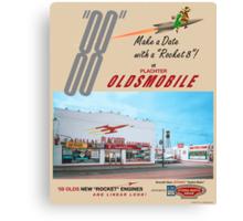Plachter Oldmobile Car Dealership Ad 1959 Reproduction Canvas Print
