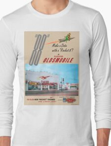 Retro Auto Ad for Platcher Oldsmobile Cadillac 1959 Long Sleeve T-Shirt