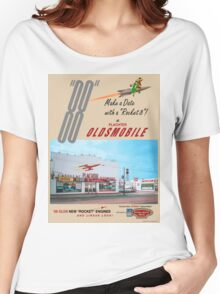 Retro Auto Ad for Platcher Oldsmobile Cadillac 1959 Women's Relaxed Fit T-Shirt