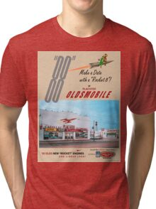 Retro Auto Ad for Platcher Oldsmobile Cadillac 1959 Tri-blend T-Shirt
