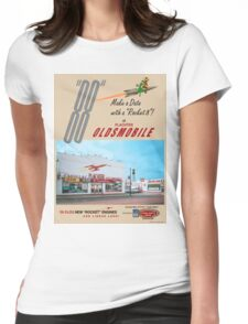 Retro Auto Ad for Platcher Oldsmobile Cadillac 1959 Womens Fitted T-Shirt