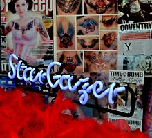 Stargazer - neon sign in shop window by EricHands