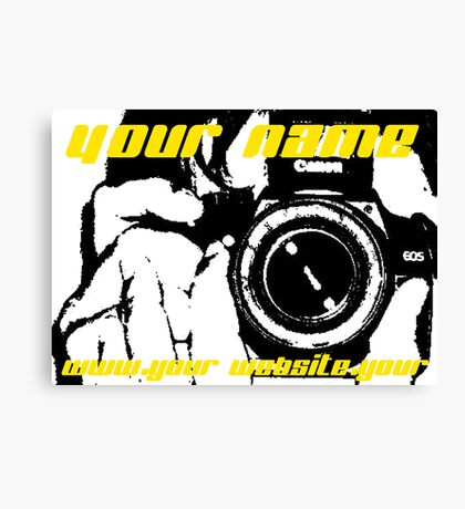 Advertise Your Name and Website Address! Canvas Print