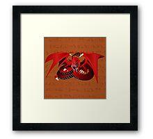 Slifer, the Sky Dragon Framed Print