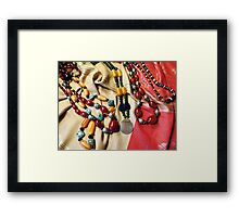 Amber And Glass Beads Framed Print