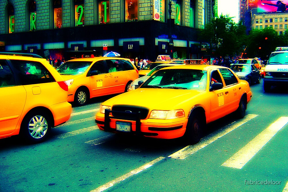 Yellow cabs by fabricedeloor