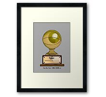 Slam Dunk Trophy / Smile Design 2014 Framed Print