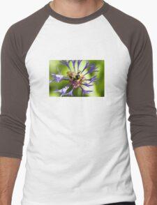 Bumblebee and flower Men's Baseball ¾ T-Shirt