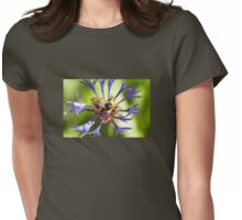 Bumblebee and flower Womens Fitted T-Shirt