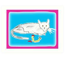 Cat Nap 2 Art Print