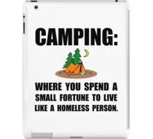 Camping Homeless iPad Case/Skin