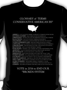 Conservative American Glossary of Terms T-Shirt