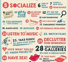 40 Ways to Stay Creative Poster by Layerform
