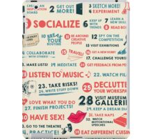 40 Ways to Stay Creative Poster iPad Case/Skin