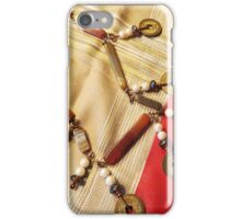 Chinese Coin And Agate Necklace iPhone Case/Skin