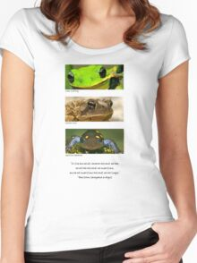 Amphibian conservation Women's Fitted Scoop T-Shirt