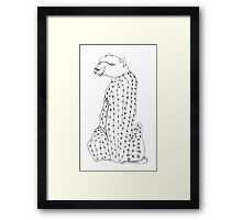 I wonder why this cheetah has the head of a bear... Framed Print