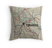Terminus Map Throw Pillow