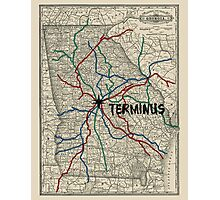 Terminus Map Photographic Print