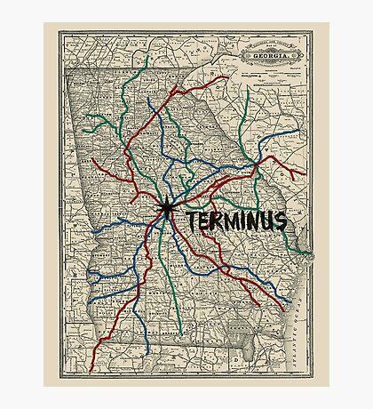 Terminus Map Photographic Print