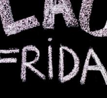 Black Friday advertisement handwritten with chalk on blackboard Sticker