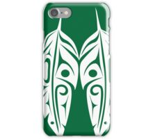 Four White Feathers on Green iPhone Case/Skin