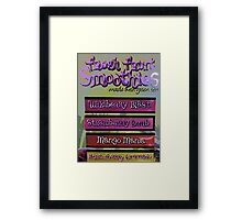 Comic Abstract Coffee Shop Smoothies Framed Print