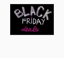 Black Friday deals advertisement handwritten with chalk on blackboard Unisex T-Shirt