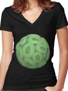 Glitch Wardrobia mental item 12 w1 Women's Fitted V-Neck T-Shirt
