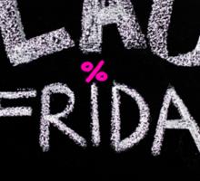 Black Friday advertisement handwritten with chalk Sticker