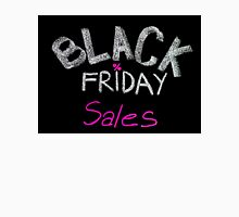Black Friday sales advertisement handwritten with chalk Unisex T-Shirt