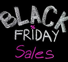 Black Friday sales advertisement handwritten with chalk by Stanciuc