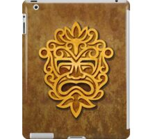 Stylish Stone Mayan Mask iPad Case/Skin