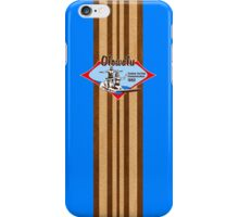 Tandem Surfing Hawaiian Vintage Surf Design  - Ocean Blue iPhone Case/Skin